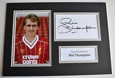 Phil Thompson Signed Autograph A4 photo display Liverpool Football AFTAL & COA