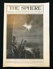 WW1 1916 Newspaper Front Page, STRAFING THE ZEPPELIN OFF NORFOLK COAST, 09/12/16