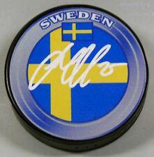 JACOB MARKSTROM Signed SWEDEN FLAG HOCKEY PUCK 1007067