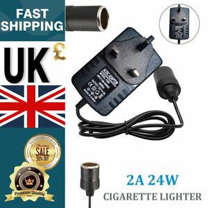 Car Cigarette Lighter Socket 240V Mains Plug to 12V Charger Power Adapter UK