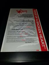 Vixen Edge Of A Broken Heart Rare Original Radio Promo Poster Ad Framed!