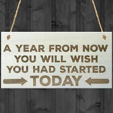 A Year From Now Wooden Hanging Plaque Inspirational Quote Friendship Gift Sign