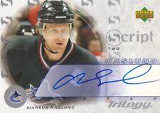 2003-04 Upper Deck Trilogy Script AUTO #S2-MN Markus Naslund Vancouver Canucks