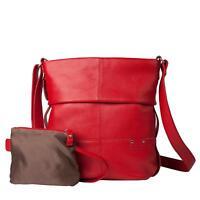 ZWEI UNICORN  Reißverschlusstasche Handtasche Damentasche red Umhängetasche