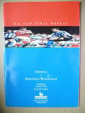 More details for 1993 fa cup final arsenal v sheffield wednesday - replay excellent & original