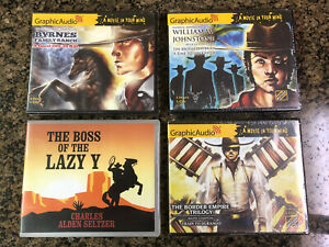New Graphic Audio Western Lot Compact Disc Audiobooks Trails And Saddles