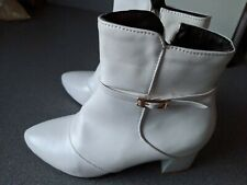 Ladies white ankle boots size 4 new