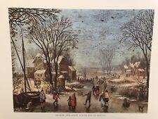 Joan Breugel - Winter Landscape Vintage Lithograph
