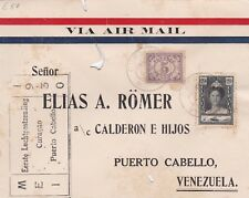 Curacao 1930 - Air Mail - First Flight Cover to Puerto Cabello Venezuela