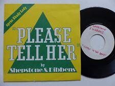 SHEPSTONE & DIBBENS Please tell her  MT 4055 TEST PRESSING  Pressage France