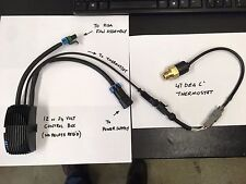 Caja de control de temperatura illztc 12 ASA 12 V + illzth 4767 Termostato 47 grados C IP67
