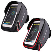 Bike Bicycle Waterproof Touch Screen Front Handlebar Bag 6'' Phone Pouch Holder