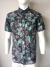 fbab7b08 Vans Hawaiian Tropical Print Button Up Pocket Short Sleeve Shirt Men's  Medium