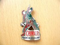 VINTAGE RACING BICYCLE CHIVALRY HEAD TUBE BADGE MADE IN ENGLAND