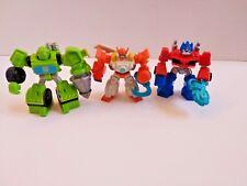 Playskool Heroes Transformers Rescue Bots Lot of 3 - Optimus, Blades, Boulder