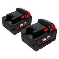 2x for Milwaukee M18 XC 48-11-1840 48-11-1850 6.0AH 18V Lithium-Ion Battery