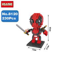 Hsanhe Marvel Hero Avengers Deadpool Micro Diamond Nano Blocks Mini Building Toy