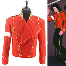 RARE MICHAEL JACKSON MJ Cotton Military England Style Informal Dress Red Jacket