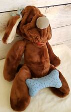 Vintage Wrinkles The Dog Brown Plush Stuffed Ganz Bros Puppet Kids Toy