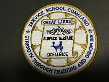 Us Navy Service School Command Great Lakes Patch Measures 4 1/2 Inches Diameter