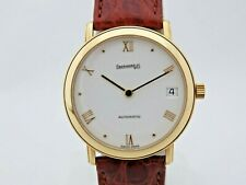 Eberhard 18 kt gold ref 40027 automatic 32 mm serviced New box & papers 1995