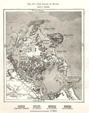 The Island of Rügen. Germany. Sketch map 1885 old antique plan chart