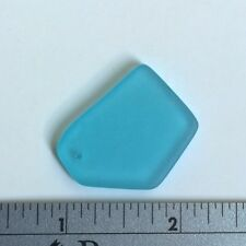 1 pc Beach Sea Glass Bead Cultured Tumbled Jewelry Necklace Pendant Decor SkyBlu