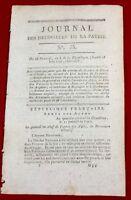 Chambéry en 1796 Savoie Wissembourg Bas Rhin Drouet Baboeuf Îles Canaries