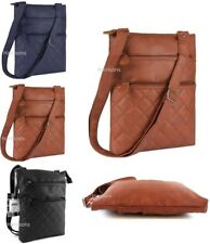 LADIES QUILT FAUX LEATHER CROSS BODY BAG TRAVEL TICKETS PASSPORT PURSE *RRP £15*
