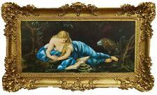Barock Gemälde S. MARIA MAGDALENA Ikonen Bild Religiös Repro Antik look 96x57