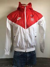 Nike Olympics 2008 Windbreaker USA Flag Hooded Red White Jacket Large Women's