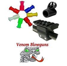 50 .40c Blowgun Stun Darts With Tactical Rail Mount & Sight by Venom Blowguns®