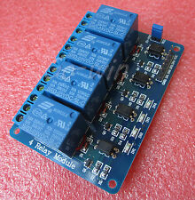 New listing 5V Four 4 Channel Relay Module With optocoupler For Pic Avr Dsp Arm Arduino 8051