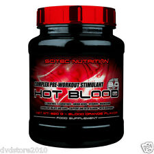 PRE WORKOUT Scitec HOT BLOOD 3.0 820 GR41 porzioni CREATINA ARGINA ARANCIO ROSSA