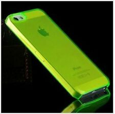 GREEN iPhone 5 5C 5S Crystal Clear Plastic Skin Case Cover Thin Transparent New