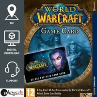 World of Warcraft 60 Days Playtime - Battlenet 60 Days WOW Gamecard Code Russia