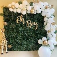 White Gold Pastel Metallic Helium Latex Ballons Birthday Graduation Party Decor