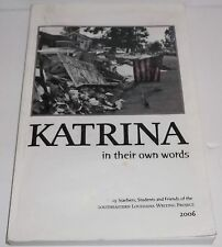 Katrina: In Their Own Words Book+CD Southeastern Louisiana Writing Project Rare*