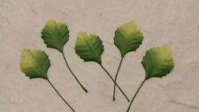 50 Mulberry Paper Leaves 30mm MPL6F::  Paper Craft Card Scrapbook embellishments
