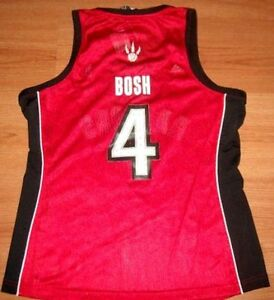 CHRIS BOSH TORONTO RAPTORS JERSEY XL LADIES #4 ADIDAS NBA