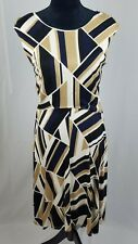 Ann Taylor Petite women size 10P shift dress sleeveless career asymmetrical