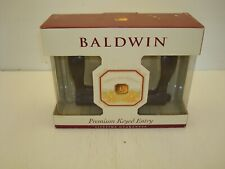 BALDWIN 95255.402.LENT WAVE LEVER LH KEYED ENTRY FORGED BRASS, BRONZE FINISH NIB