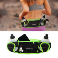 PurAthletics Hydration Fanny Pack Cell Phone Waist Pouch 2 Sports Water Bottles