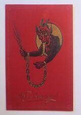 """""""Weihnachten, Krampus, Wirst brav sein, Kette, Rute"""" 1910, Prägekarte ♥ (58189)"""