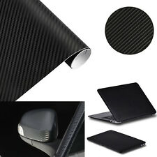 "2PCS 3D Black Carbon Fiber Vinyl Sheet Decal Decor Wrap Film Sticker 3""x8"""