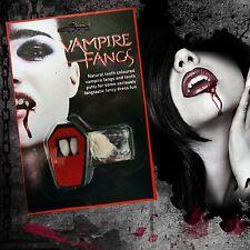 Blanco colmillos Gorras Dientes Vampiro Drácula Fancy Dress Con Masilla Adhesivo Halloween