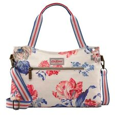 Cath Kidston Porchester Rose ZIPPED Handbag Detachable Strap Blue Pink Tote