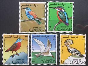 QATAR STAMPS - 1972 BIRDS - 5 VALUES TO 5 DIRHAMS - UMM - (788)