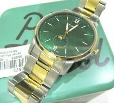 Fossil FS5572 The Minimalist Moonphase Two-tone Stainless Steel Green Dial Watch