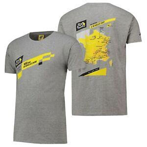 Tour de France 2019 Women's Cycling Route T-Shirt - Grey - New